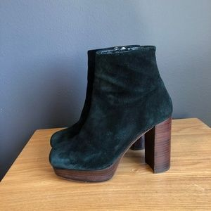 Shellys London Hammersmith Green Suede Boots